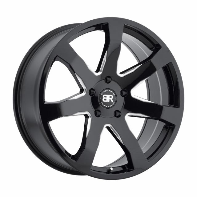 BLACK RHINO MOZAMBIQUE 22x9.5 5/150 ET30 CB110.1 GLOSS BLACK W/MILLED SPOKES RF