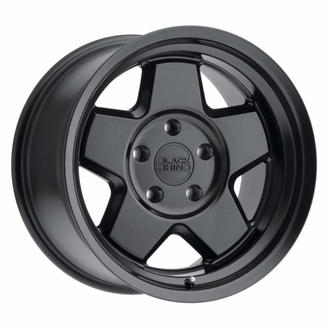 BLACK RHINO REALM 16x8.0 5/114.3 ET-10 CB71.6 SEMI GLOSS BLACK