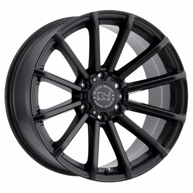 BLACK RHINO ROTORUA 17x9.5 6/139.7 ET-12 CB112.1 GLOSS BLACK