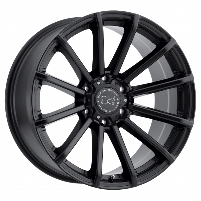BLACK RHINO ROTORUA 20x9.5 6/139.7 ET-12 CB112.1 GLOSS BLACK
