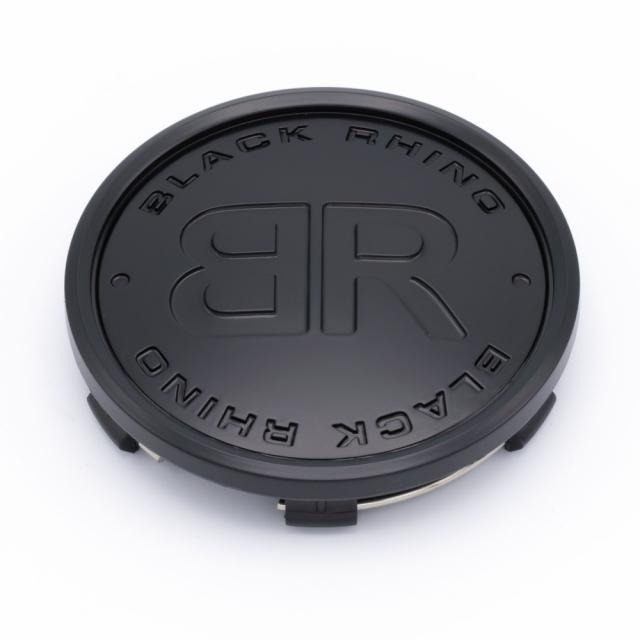 "CENTER CAP BLACK RHINO ""BR"" DARK MATTE BLACK TINT BR LOGO (C-368-2)"