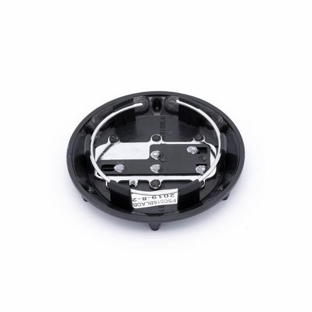 CENTER CAP BLACK RHINO TALL POP IN VAULT HUB 120/140 MATTE BLACK W/ CHROME LETTE