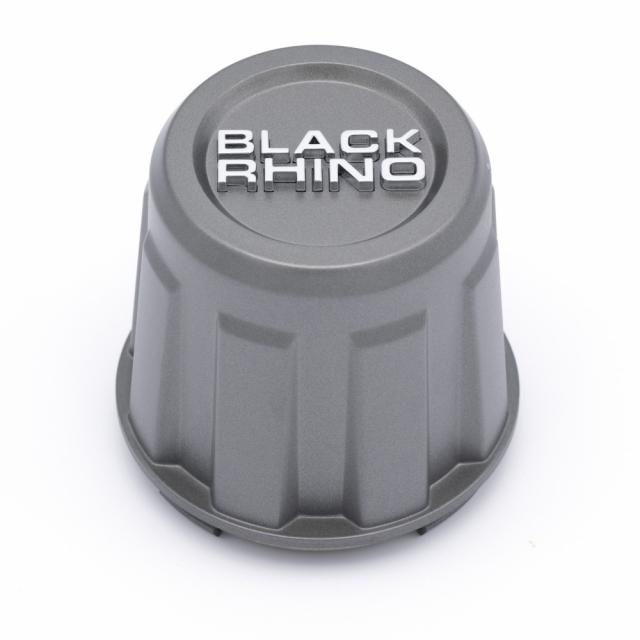 CENTER CAP BLACK RHINO TALL UTV MATTE GUNMETAL/CHROME BR (YRK) (C-585-1)