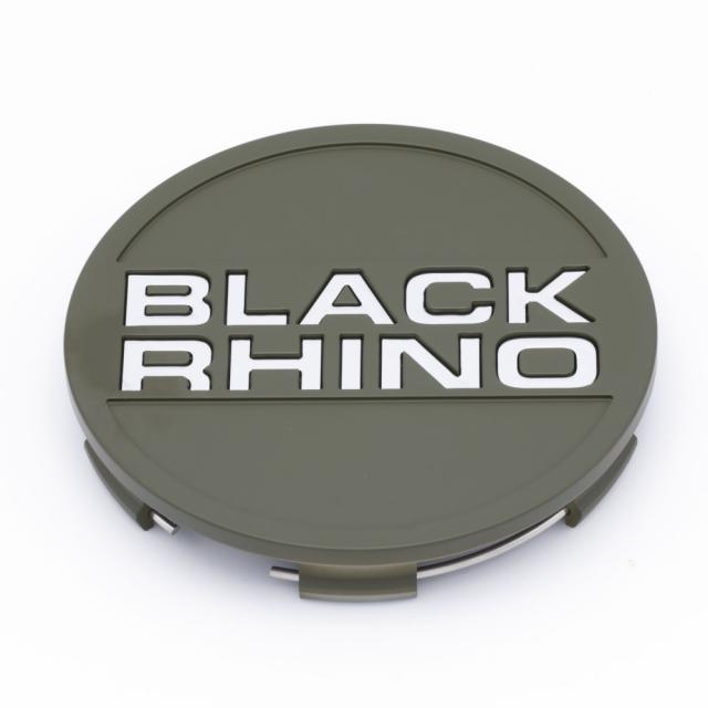 CENTER CAP BLACK RHINO TRD WIDE POP IN OD GREEN W/CHROME LETTERS (PSC0009)