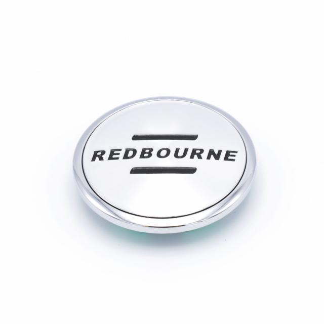 CENTER CAP REDBOURNE SILVER/CHROME W/LOGO (C-G19)