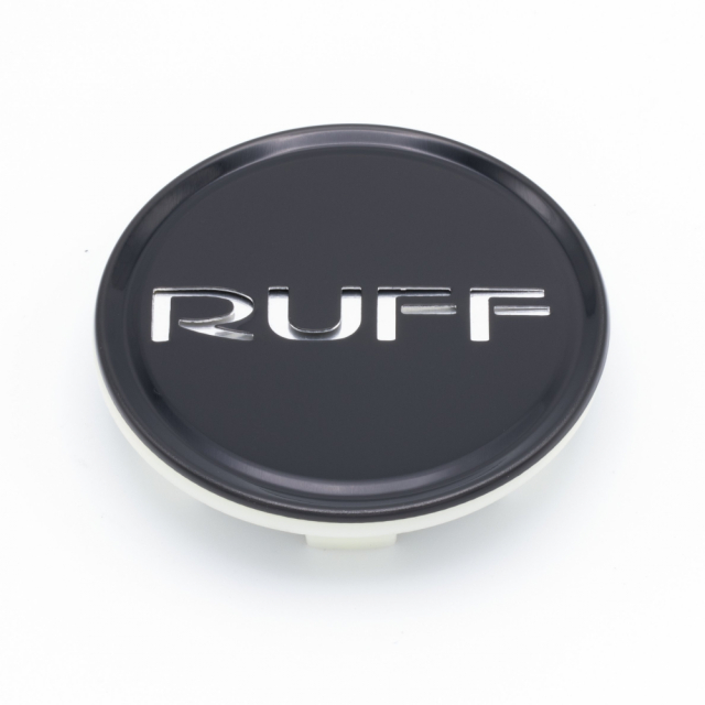 CENTER CAP RUFF R953 BLACK (NEW STYLE)