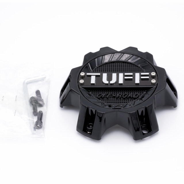 CENTER CAP TUFF T17/T22 - 6H 6/135 & 6/139.7 CAP GLOSS BLACK (C110302)