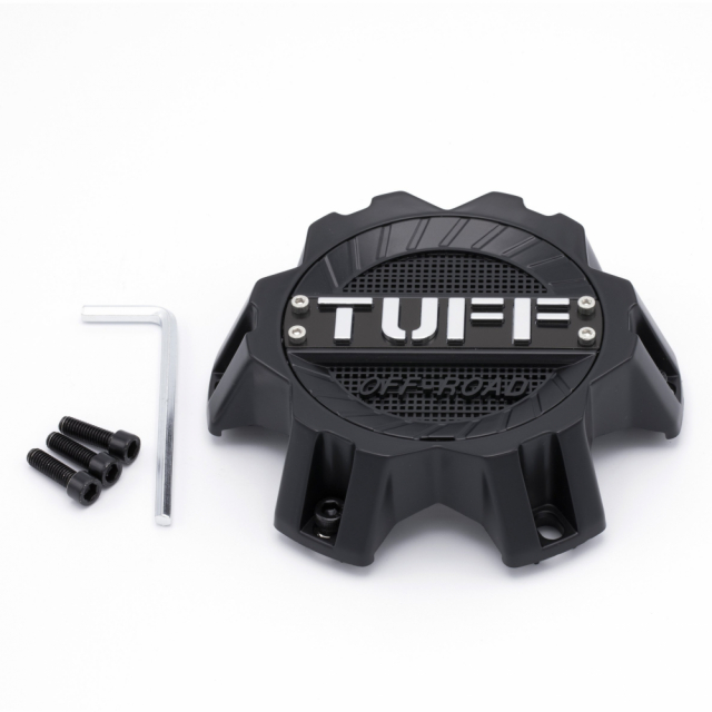 CENTER CAP TUFF T17/T22 - 6H 6/135 & 6/139.7 CAP SATIN BLACK (C110302)