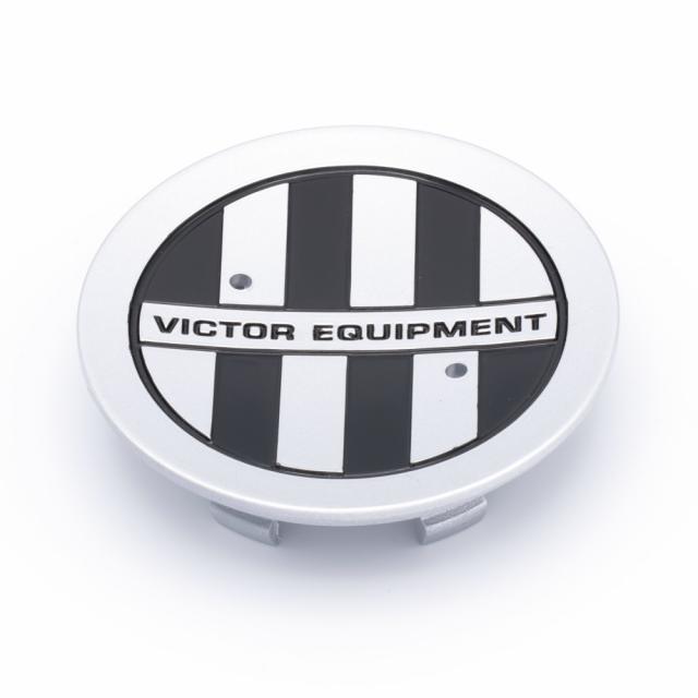 CENTER CAP VICTOR EQUIPMENT SILVER W/BLACK CHECKER (PCH67) (219K77)
