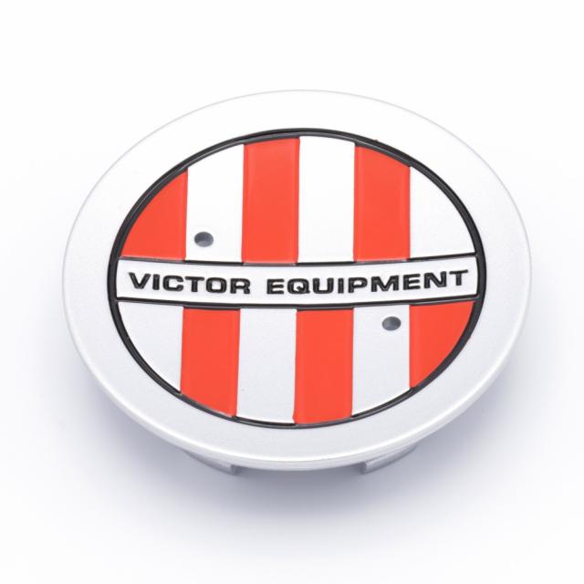 CENTER CAP VICTOR EQUIPMENT SILVER W/RED CHECKER (PCH67)