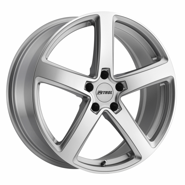 PETROL P2A 18x8.0 5/100 ET35 CB72.1 SILVER W/ MACHINE CUT FACE