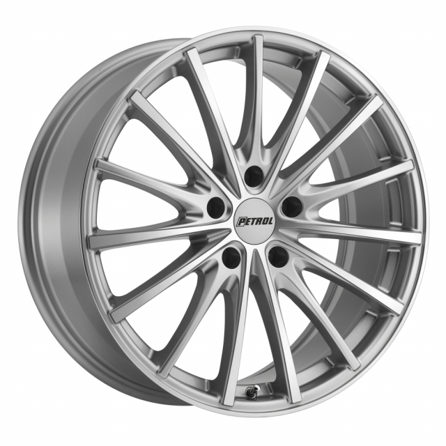 PETROL P3A 17x8.0 5/112 ET40 CB72.1 SILVER W/ MACHINE CUT FACE