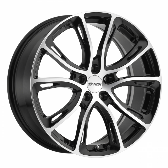 PETROL P5A 18x8.0 5/100 ET35 CB72.1 GLOSS BLACK W/ MACHINE CUT FACE