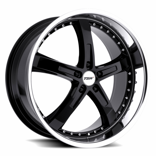 TSW JARAMA 19x8.0 5/112 ET45 CB72.1 GLOSS BLACK MIRROR LIP