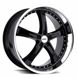 TSW JARAMA 20x10.0 5/120 ET25 CB76.1 GLOSS BLACK MIRROR LIP
