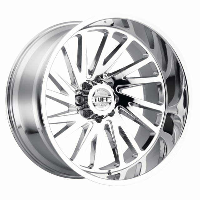 TUFF T2A 26x14 8/165 ET-72 CB122.1 CHROME LEFT
